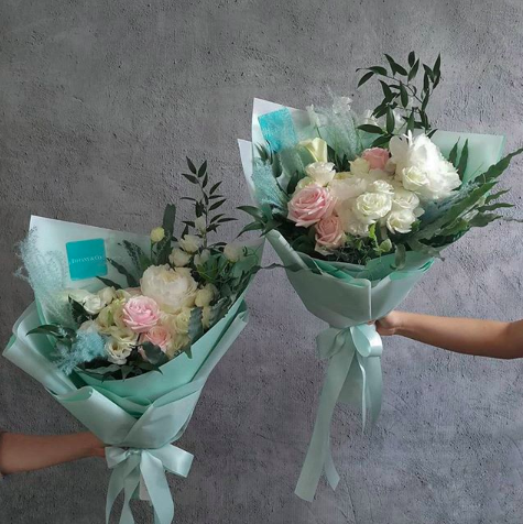 Tiffany Blue Flower Arrangement Bouquet